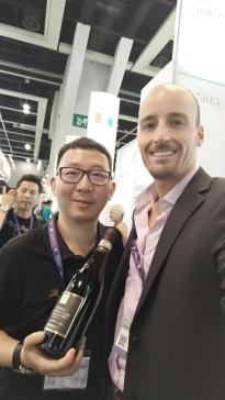 Matteo durante il Vinexpo Hong Kong 2018